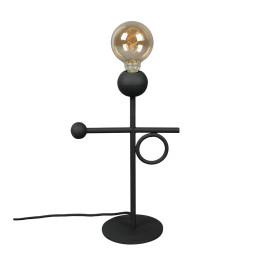 Zwarte design tafellamp