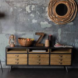 Tv-meubel metaal en hout