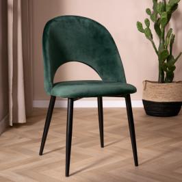 Velvet stoel met open rugleuning