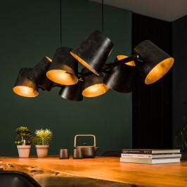 Eettafel hanglamp donker metaal