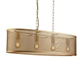 Eettafel hanglamp goud metaal gaas