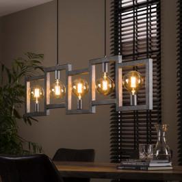 Eettafel hanglamp oud zilver