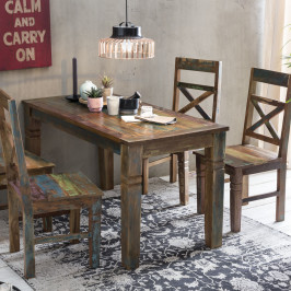 Eettafel gerecycled sloophout