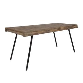 Eettafel van gerecycled teak hout
