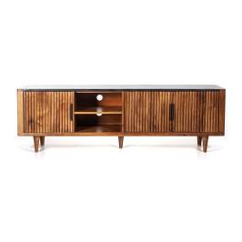 Retro tv-meubel mangohout marmer 180 cm