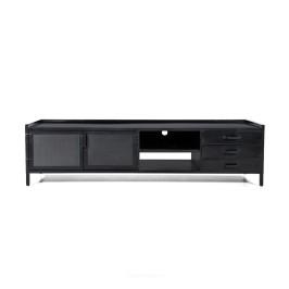 Industrieel tv-meubel zwart metaal