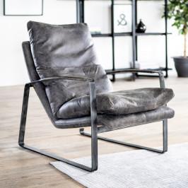 Lounge fauteuil leer