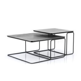 Metalen salontafelset van 2