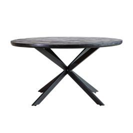 Ronde eettafel zwart hout 140 cm