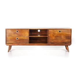 Retro tv-meubel van mangohout