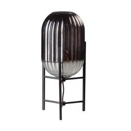 Ribbelglas tafellamp