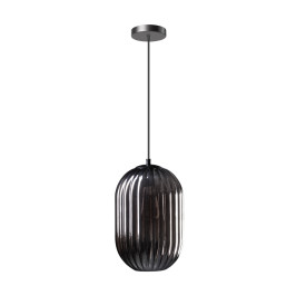 Sfeervolle hanglamp ribbel rookglas