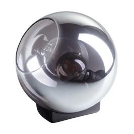 Tafellamp glazen bol rookglas