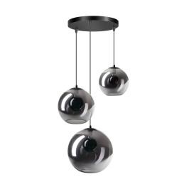 Trapse hanglamp met 3 glasbollen