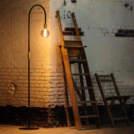 Gebogen vloerlamp