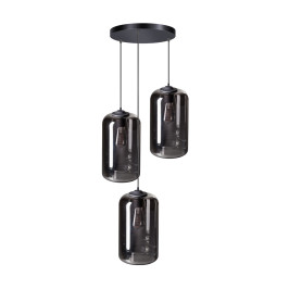 Trapse hanglamp met rookglas