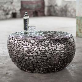 Salontafel van stalen stenen