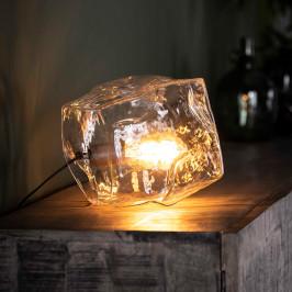 Glazen tafellamp steenvorm