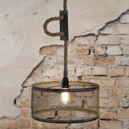 Grijze industriële hanglamp