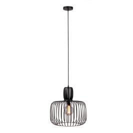 Zwarte hanglamp metaal
