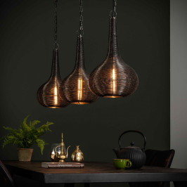 Hanglamp met 3 kegelvormige kappen