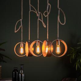 Hanglamp met metalen cirkels