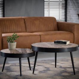 Hardhouten salontafelset