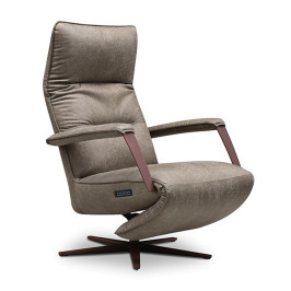Verstelbare relax fauteuil leer samenstellen