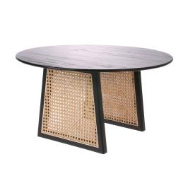 Ronde webbing salontafel zwart