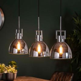 Industriele hanglamp met chroom