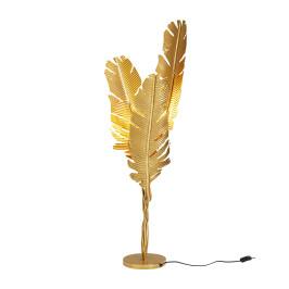 Vloerlamp gouden veren