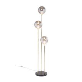 Gouden vloerlamp met glas