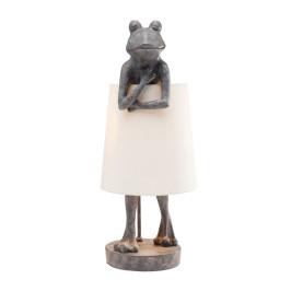Kikkerfiguur tafellamp grijs