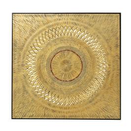 Gouden wanddecoratie houtsnijwerk