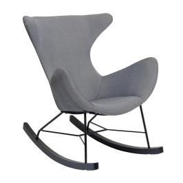 Grijze schommelstoel met zwart