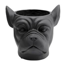 Bulldog plantenbak zwart
