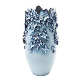 Vaas Delfts blauw met vlinders