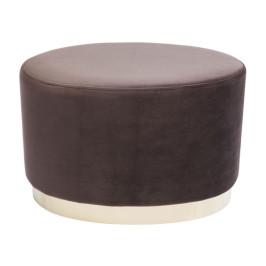 Velvet ovale poef