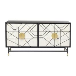 Design dressoir zwart-wit met goud