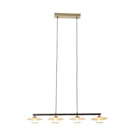 Design hanglamp met goud