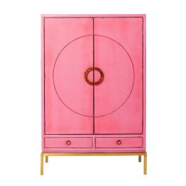 Roze kledingkast