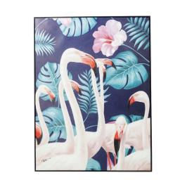 Flamingo schilderij met zwarte lijst