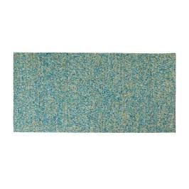 Blauw tapijt van koehuid