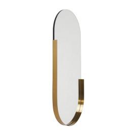 Ovalen spiegel met messing rand