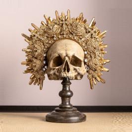 Deco gouden schedel