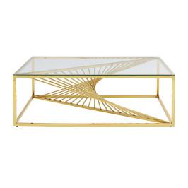 Design salontafel met glas