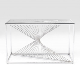 Design sidetable met glas