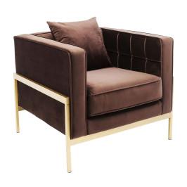 Fluwelen fauteuil modern