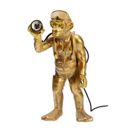 Gouden duiker aap tafellamp