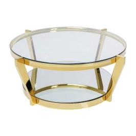 Gouden salontafel rond